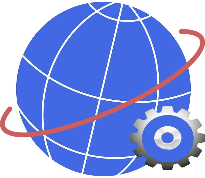 image d'une planète avec la roue de réglage des paramétrages