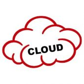 image du mot cloud dans un nuage rouge